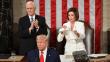 Trump'ın konuşmasına Pelosi damgası