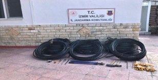 İzmir'de 11 bin liralık kabloyu çalan şahıslar yakalandı