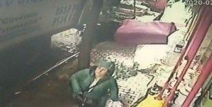 İzmir'de bir kadın ölümden böyle kurtuldu