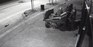 At arabalı kadın hırsızlar güvenlik kamerasına yakalandı