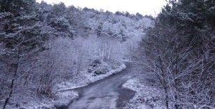 (Özel) Kar yağışı etkisini gösterdi, Aydos Ormanı beyaza büründü