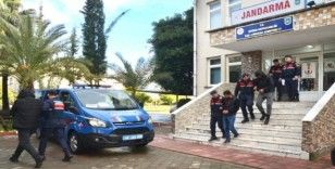Küçükbaş hırsızları jandarma özel ekiplerine yakalandı