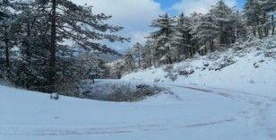 Sındırgı'da kar kartpostallık görüntüler oluşturdu