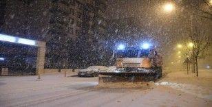 Samsun'da karla mücadele seferberliği