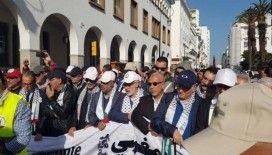 Fas'ta ABD'nin sözde barış planı protesto edildi