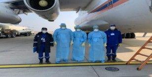 Rusya'dan Çin'e korona virüsüne karşı yardım malzemesi