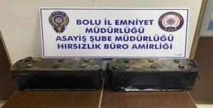 Bolu'da akü hırsızlığı yapan 3 kişi adliyeye sevk edildi