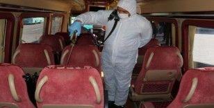 Manisa'daki toplu taşıma araçları dezenfekte ediliyor