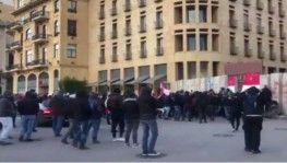 Lübnan'da yeni hükümet oturumuna protesto