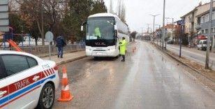 Afyonkarahisar'da bir haftada 116 yolcu otobüsü denetlendi