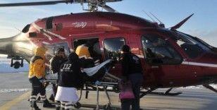 Diyabet ve tansiyon hastasının imdadına polis helikopteri yetişti
