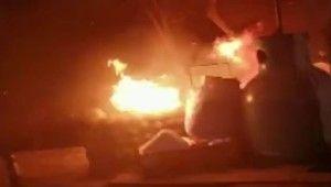Tinerciler Taksim'de parkı yaktı