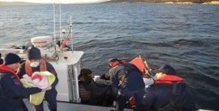 İzmir'de 12 kaçak göçmen kurtarıldı