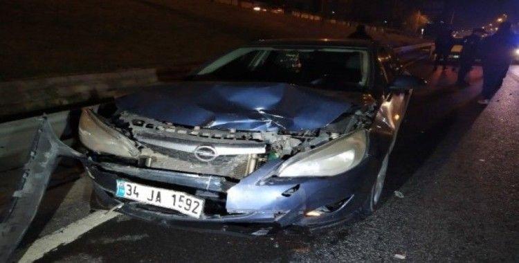 Makas atan sürücü zincirleme kaza neden oldu: 1 yaralı