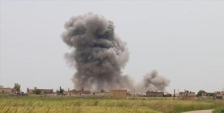 Esad rejimi İdlib'de bir kampı vurdu: 6 yaralı