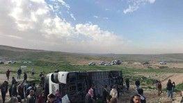 Ürdün'de öğrenci servisi kaza yaptı