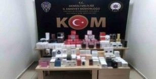 Denizli'de 238 adet kaçak parfüm ele geçirildi