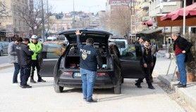 Gaziantep'te helikopter destekli trafik uygulaması