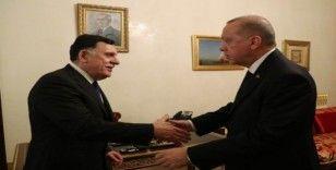 Cumhurbaşkanı Erdoğan, Sarraj'ı kabul etti