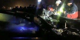 Kocaeli'de halk otobüsü ile otomobil kafa kafaya çarpıştı: 1 ölü