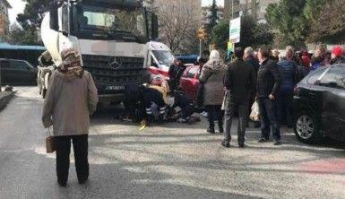 Kadıköy'de yaşlı bir adam beton mikserinin altında kaldı