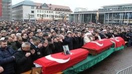 Öldürülen Türk vatandaşları için cenaze töreni düzenlendi