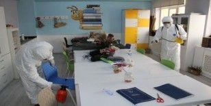 Ağrı'da okullarda korona virüse karşı dezenfekte çalışması