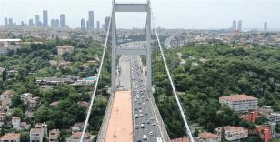 Fatih Sultan Mehmet Köprüsü'nde hareketli anlar