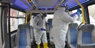 Yüksekova'da korona virüse karşı her yer dezenfekten geçildi