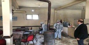 Eruh'ta camiler ve kafeler dezenfekte edildi