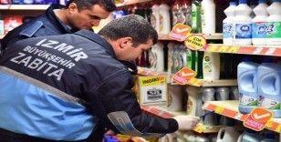 İzmir'de zabıtadan korona virüsü fırsatçılarına denetim