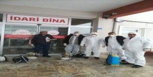 Müdürlükler dezenfekte ediliyor