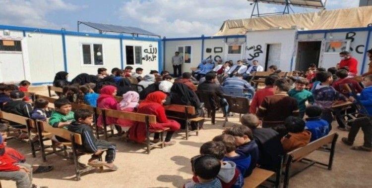 Suriye mülteci kamplarında koronaya karşı tedbirler