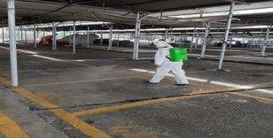 Belediyeden dezenfekte çalışmaları