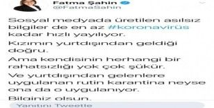 Fatma Şahin'den korona iddialarına cevap