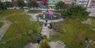 Çorum'da belediye parkları bahara hazırlıyor
