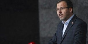 Gençlik ve Spor Bakanı Kasapoğlu saat 17.00'de açıklama yapacak