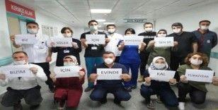 Sağlık personelinden vatandaşlara anlamlı çağrı