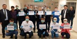 Sağlıkçılardan korona virüsüne karşı çağrı