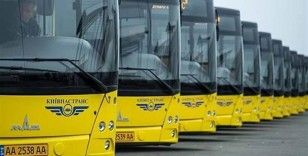 Kiev'de toplu taşıma hizmetleri durduruluyor
