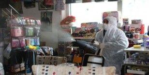 Varto'da işyerleri dezenfekte edildi