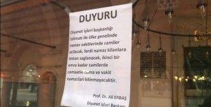 Kastamonu'da Camiler boş kaldı