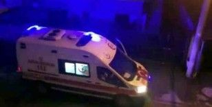 Ambulans şoförü destek olan vatandaşa megafondan teşekkür etti