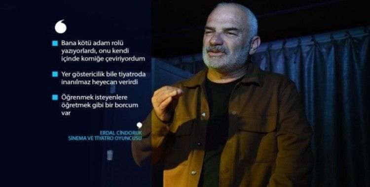 Oyuncu Erdal Cindoruk sanat yaşamında 40 yılı anlattı