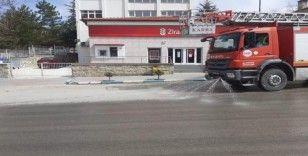 Altıntaş sokakları dezenfekte edildi