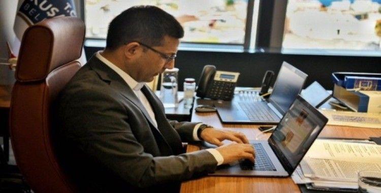 Başkan Günel, çalışmalar ve önlemlerle ilgili dijital toplantı yaptı