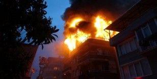 Samsun'da korkutan ev yangını