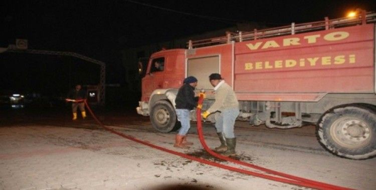 Varto Belediyesinden dezenfekte çalışması