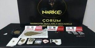 Çorum'da uyuşturucu operasyonunda 1 tutuklama