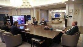 Cumhurbaşkanı Erdoğan bakanlarla video konferansla görüştü